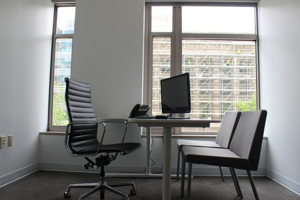 Flexible, private window office at 800 Connecticut Ave